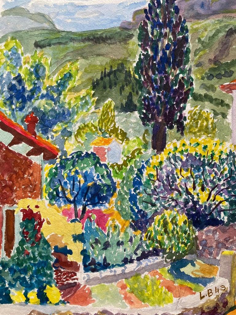 Louis Bellon Landscape Art - 1940's Provence France Painting Landscape - Post Impressionist artist