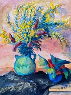 1940's Provence French Flower Bright Colors - Post Impressionist artist