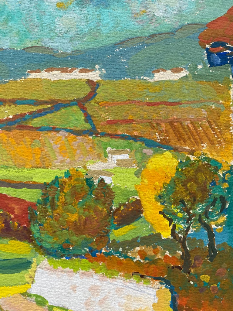 1940's Provence French Autumn Landscape - Post Impressionist artist - Brown Landscape Painting by Louis Bellon