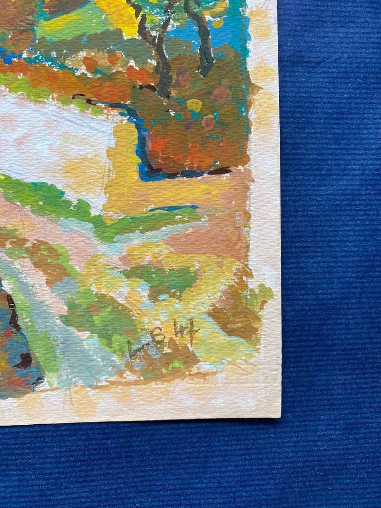 1940's Provence French Autumn Landscape - Post Impressionist artist For Sale 1