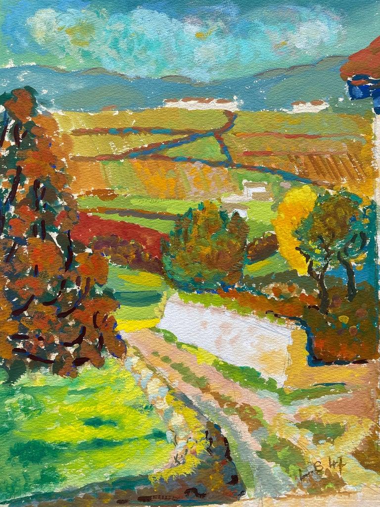 Louis Bellon Landscape Painting - 1940's Provence French Autumn Landscape - Post Impressionist artist