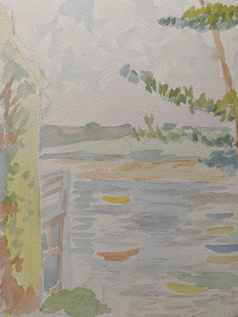 Provencal Landscape by Louis Bellon (French 1908-1998) signed double sided From a batch of similar work where most were dated 1942-1947 watercolour painting on paper, unframed  measurements: 14 x 10 inches  provenance: private collection of the
