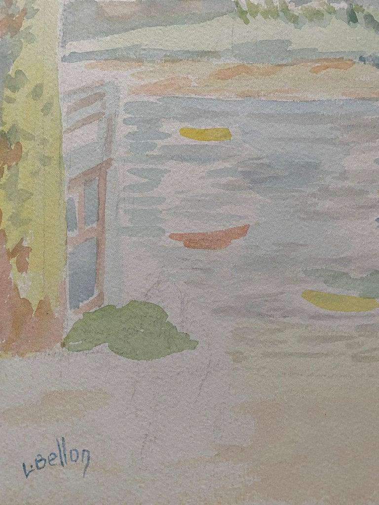 1940's Provence French Light Summer Landscape  - Post Impressionist artist For Sale 1