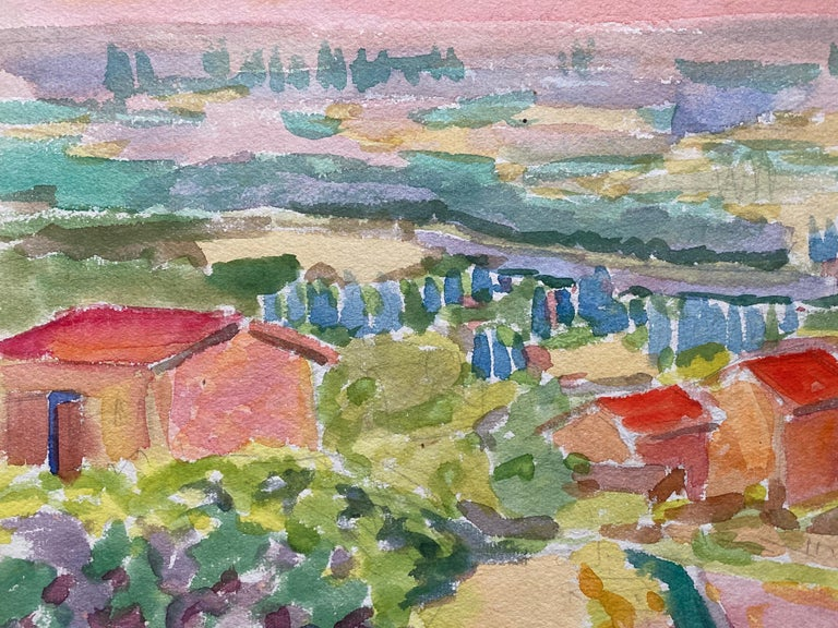 Provencal Landscape by Louis Bellon (French 1908-1998) signed and dated 45' From a batch of similar work where most were dated 1942-1947 watercolour painting on paper, unframed  measurements: 10 x 13 inches  provenance: private collection of the