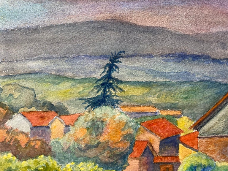 Provencal Landscape by Louis Bellon (French 1908-1998) signed From a batch of similar work where most were dated 1942-1947 watercolour painting on paper, unframed  measurements: 10.5 x 13.75 inches  provenance: private collection of the artists