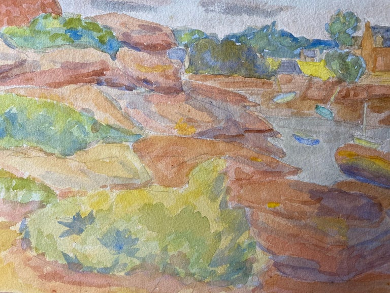 Provencal Landscape by Louis Bellon (French 1908-1998) From a batch of similar work where most were dated 1942-1947 watercolour painting on paper, unframed  measurements: 10 x 13.5 inches  provenance: private collection of the artists work,