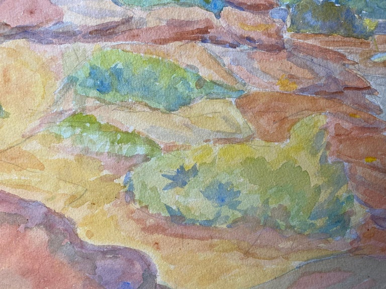 1940's Provence Painting French Light Landscape  - Post Impressionist artist For Sale 1