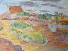 1940's Provence Painting French Light Landscape  - Post Impressionist artist