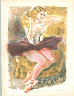 Dancer Combing her Hair - 20th Century - Louis Berthomme - Lithograph - Modern