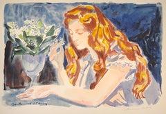 Woman - 20th Century - Louis Berthomme - Lithograph - Modern