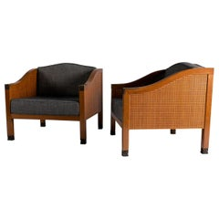 Louis Cane, Pair of Armchairs, France, 1995