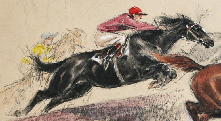 Saut de la Ravine original watercolor by Louis Claude 1928  For Sale 1