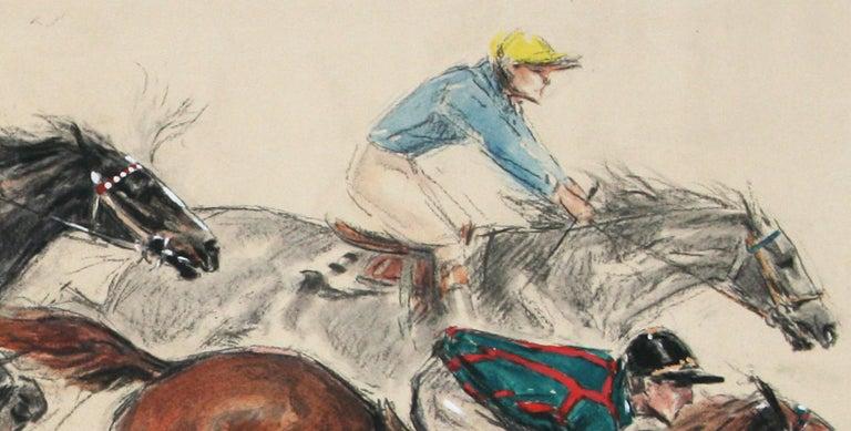 Saut de la Ravine original watercolor by Louis Claude 1928  For Sale 2