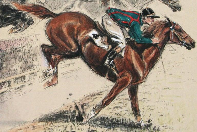 Saut de la Ravine original watercolor by Louis Claude 1928  For Sale 3