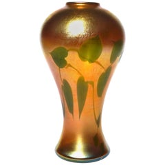 Louis Comfort Tiffany Favrile Hearts and Vines Vase