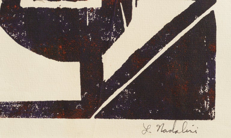 Abstract Geometric Lithograph 2