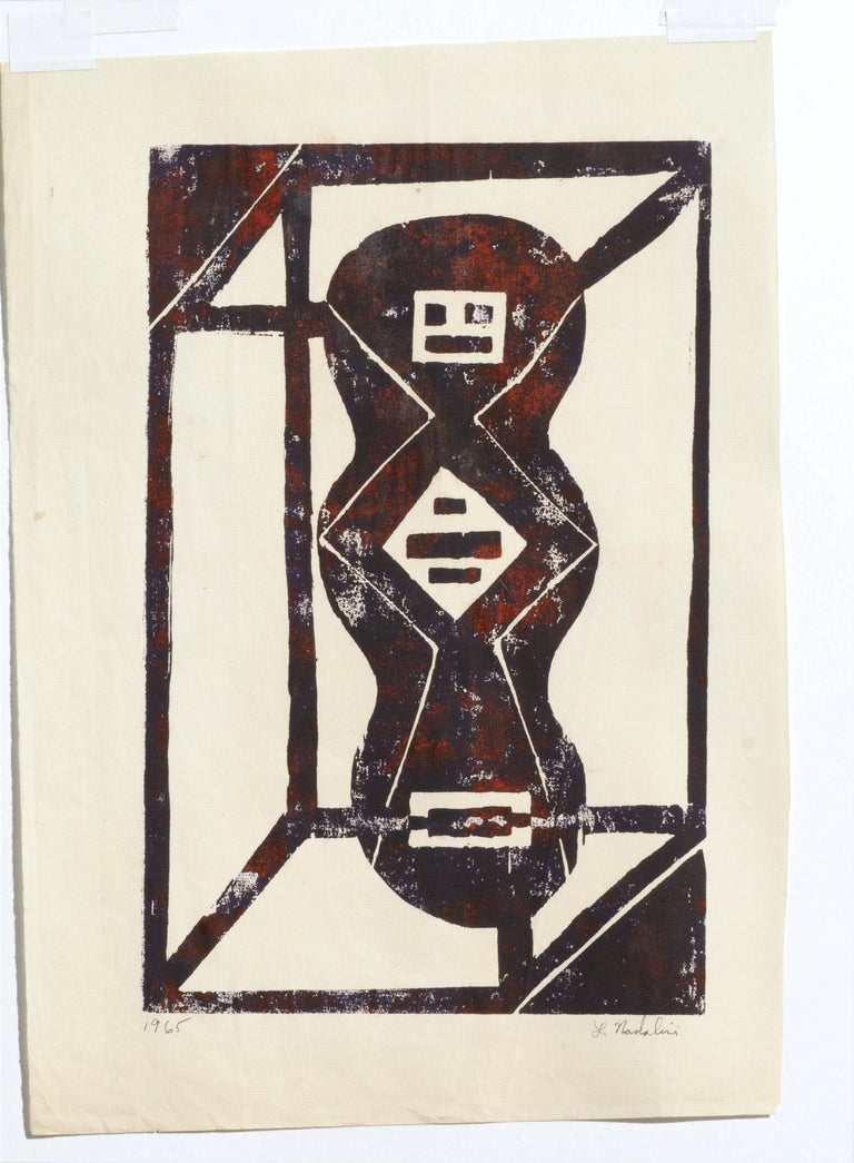 Abstract Geometric Lithograph 4