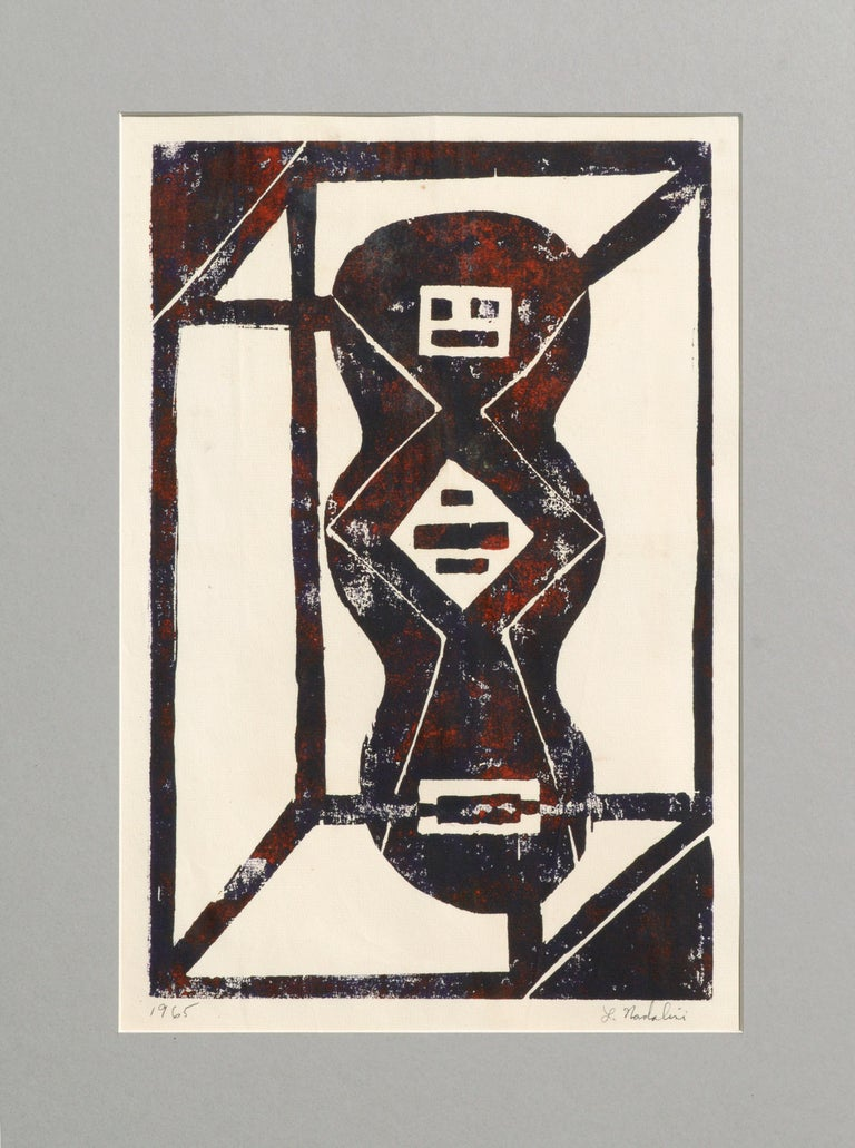 Louis Earnest Nadalini Abstract Print - Abstract Geometric Lithograph