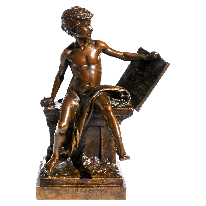 Louis Ernest Barrias Bronze Sculpture