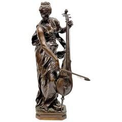 """Louis-Ernest Barrias Bronze Sculpture """"Le Musique"""""""