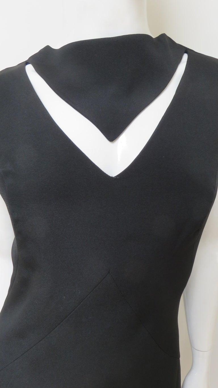 Black Louis Estevez 1960s Cut out Dress For Sale