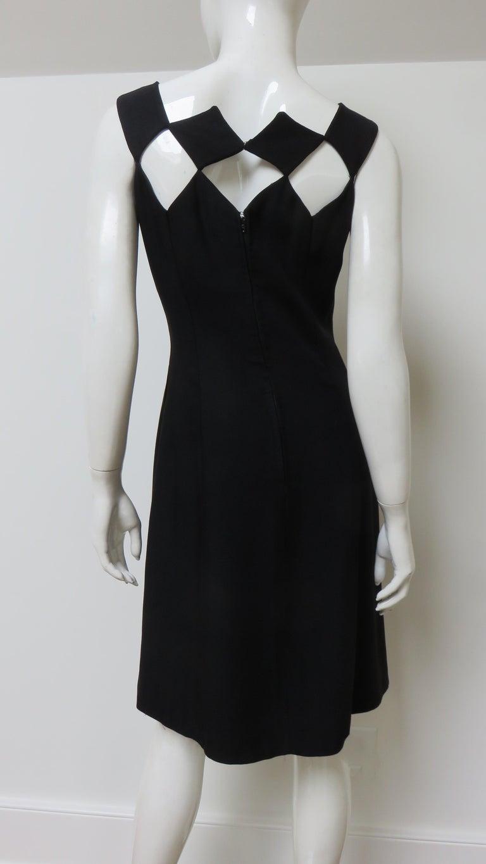 Louis Estevez 1960s Geometric Cut out Dress For Sale 6