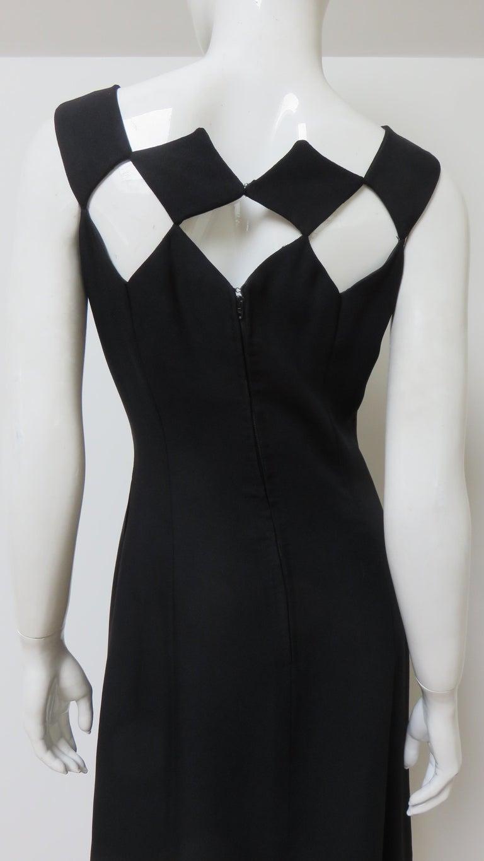 Louis Estevez 1960s Geometric Cut out Dress For Sale 7