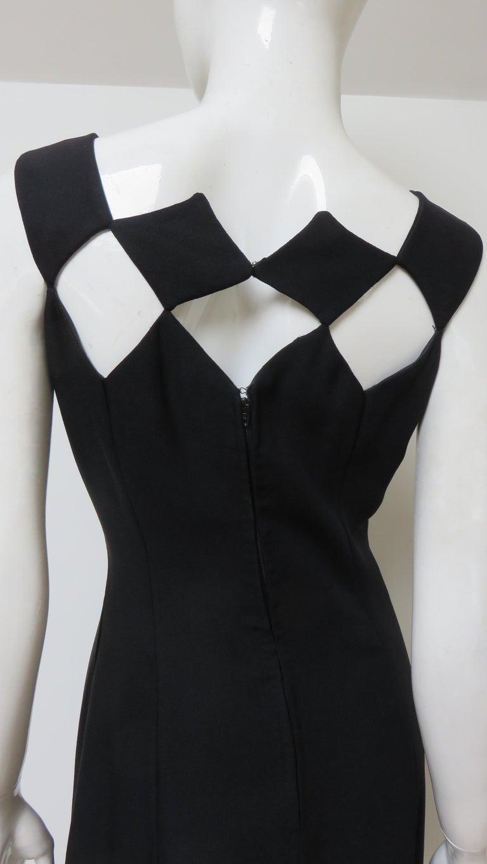 Louis Estevez 1960s Geometric Cut out Dress For Sale 8