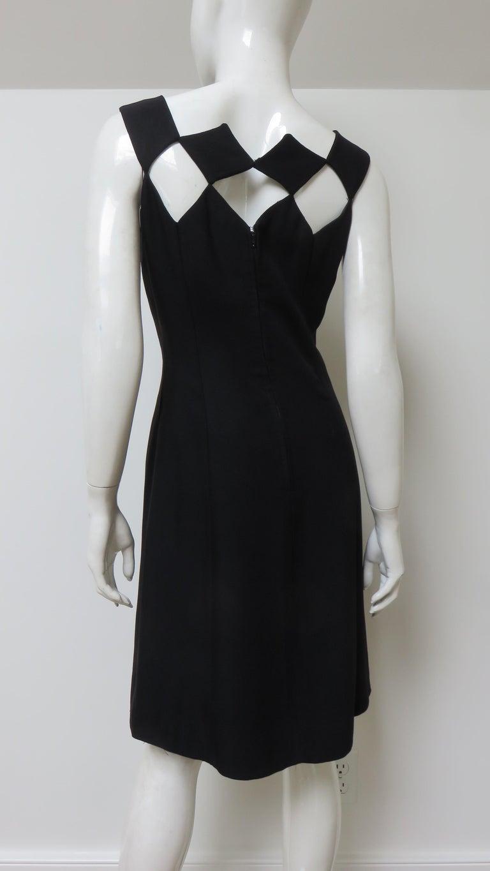Louis Estevez 1960s Geometric Cut out Dress For Sale 9