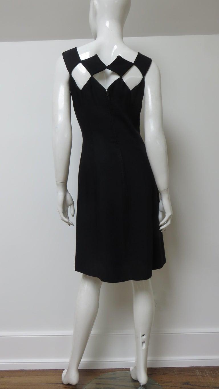Louis Estevez 1960s Geometric Cut out Dress For Sale 10