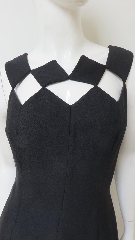 Louis Estevez 1960s Geometric Cut out Dress For Sale 1
