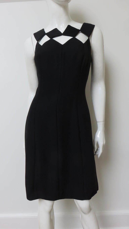 Louis Estevez 1960s Geometric Cut out Dress For Sale 2