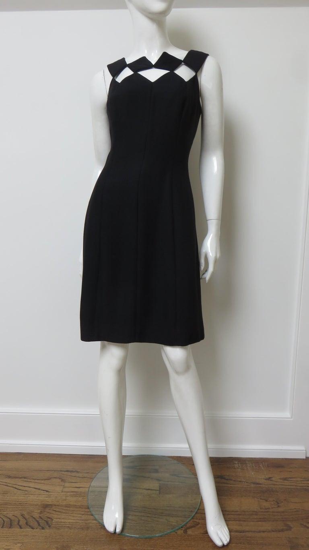 Louis Estevez 1960s Geometric Cut out Dress For Sale 3