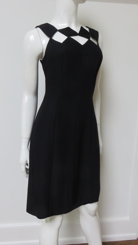 Louis Estevez 1960s Geometric Cut out Dress For Sale 4