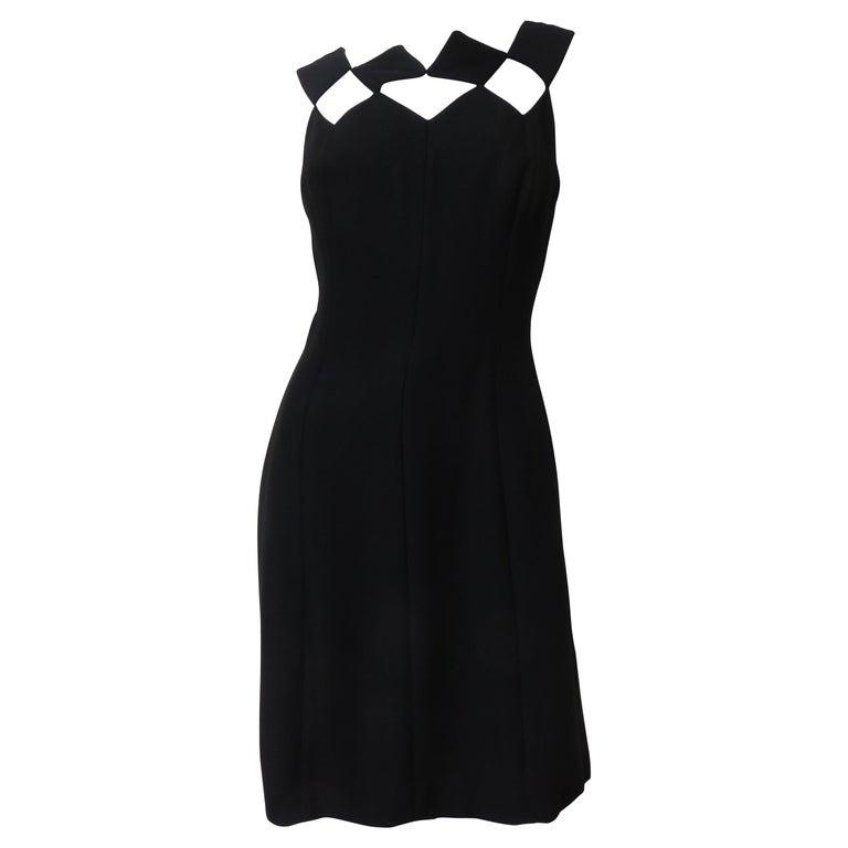 Louis Estevez 1960s Geometric Cut out Dress For Sale