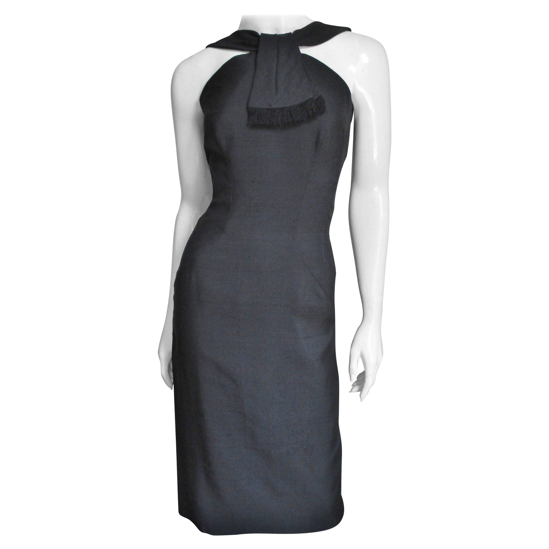 Louis Estevez Silk Bodycon Backless Dress 1950s