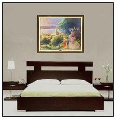 Louis Fabien Large Original Painting Oil On Canvas SIgned Landscape Seascape Art