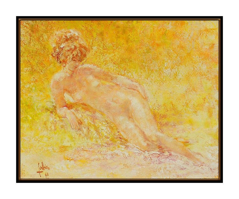 Louis Fabien Authentic & Original Oil Painting on Canvas, Professionally Custom Framed in its Vintage Moulding and listed with the Submit Best Offer option  Accepting Offers Now: The item up for sale is a spectacular Oil Painting on Canvas by