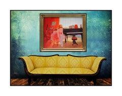 Louis Fabien Original Oil Painting On Canvas Signed Female Portrait Large Art