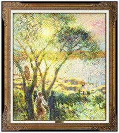 Louis Fabien Original Oil Painting On Canvas Signed French Landscape Framed Art