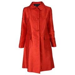 Louis Féraud 1960s Vintage Red Silk & Wool Evening Jacket