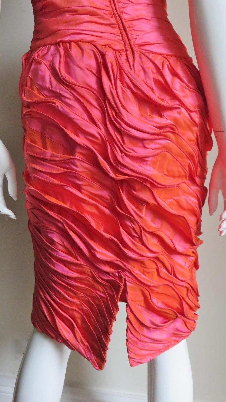 Louis Feraud Adjustable Ruffles Dress 1980s For Sale 6