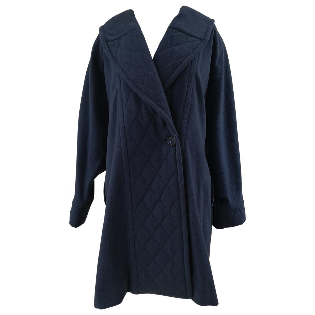Louis Feraud blue wool coat