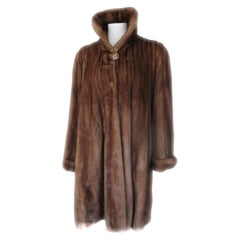 Louis Feraud Paris Flared Mink Fur Coat