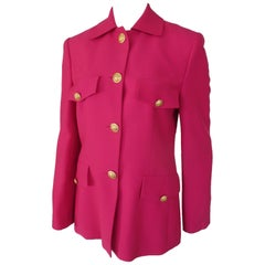 Louis Feraud Pink Light Wool Blazer