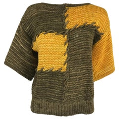 Louis Feraud Ribbon Knit Colour Block Sweater