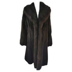 Louis Féraud Barguzin Russian Sable Fur Coat (Size 8-M)