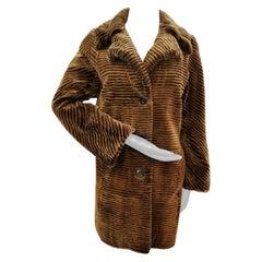Louis feraud sheared mink fur coat size 6