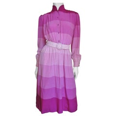 Louis Feraud Silk Shirtwaist Dress 1970s