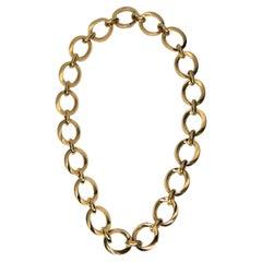 Louis Fiessler 18k Rose Gold Link Necklace